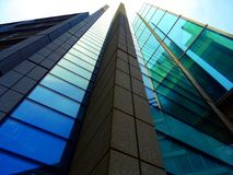 Glass and steel modern architecture Stock Photography