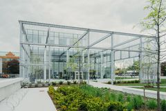 Glass and steel modern building Stock Images