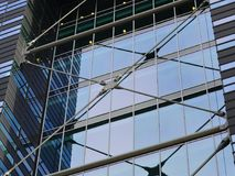 Glass and steel modern building Royalty Free Stock Photos