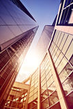 Glass and steel office complex Royalty Free Stock Photo