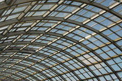 Glass and steel roof structure Stock Photography