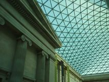 Roof structure of British Museum, London Royalty Free Stock Images