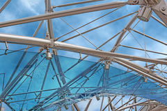 Glass and steel structure Stock Images