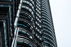 Glass and steel structure of the building exterior royalty free stock photography
