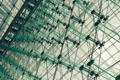 Glass and steel wall in skyscraper Stock Photography