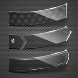 Glass stickers on grey background. Stock Image