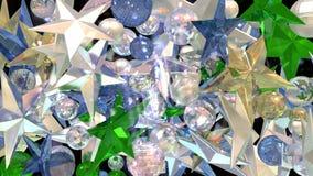 Glass stjärnor Arkivbilder