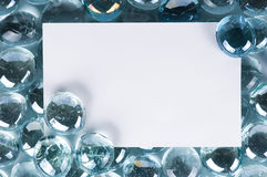 Glass stones. Heap of blue bright glass stones background, abstract Royalty Free Stock Photography