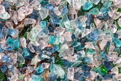 Glass Crystal mineral natural rough colorful surface. Glass stones. Crystal mineral natural rough colorful surface stock photography