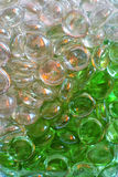 Glass stones. Rounded colored glass stones decoration Stock Images
