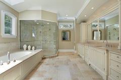 glass stor förlaga dusch för bad Arkivfoto