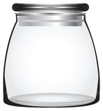 Glass Storage Jars Stock Photo