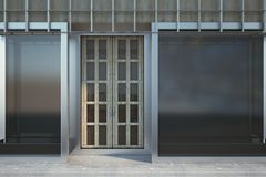 Glass storefront with copyspace Royalty Free Stock Photography