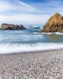 Glass strand, Fort Bragg Kalifornien Arkivfoton