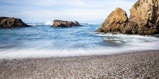 Glass strand, Fort Bragg Kalifornien Fotografering för Bildbyråer