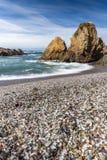 Glass strand, Fort Bragg Kalifornien Royaltyfria Foton