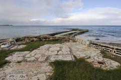 Glass strand i Bermuda Arkivfoto