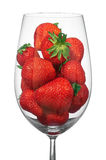 Glass with the strawberry Royalty Free Stock Photos