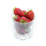 Glass of strawberry juice Stock Images