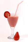 Glass of strawberry juice Stock Photography