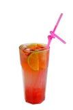 Glass of strawberry smoothie Stock Photo