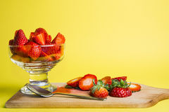 A glass of strawberry Royalty Free Stock Photo