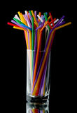 Glass with straws Stock Image