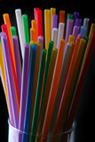 Glass with straws Royalty Free Stock Photos