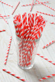 Glass of Straws Stock Photo