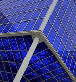 The glass structure over our heads. The design of glass and metal pleasant color Royalty Free Stock Photos