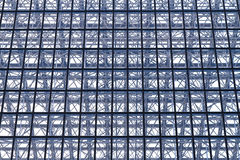 Glass Structure. Glass and steel structure at modern building Stock Photography