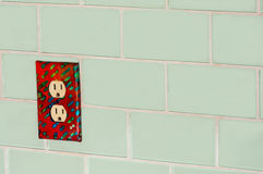 Glass Subway Tile and Outlet Stock Image