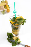 Glass of summer fresh juice Royalty Free Stock Images