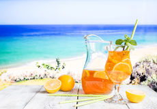 Glass of summer ice tea Royalty Free Stock Image