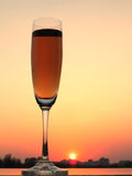 Glass and sunset Royalty Free Stock Images