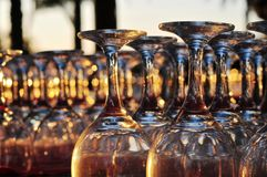 Glass at sunset Stock Images