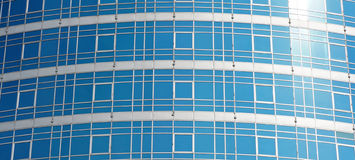 Glass surface of Modern office building Royalty Free Stock Photo