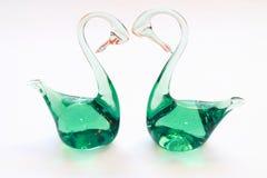 Glass svan Royaltyfria Foton