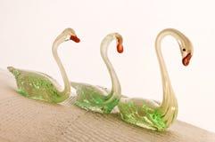 glass swans Royaltyfri Bild