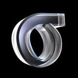glass symbol för sigma 3d vektor illustrationer