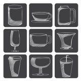 Glass symboler Arkivbild