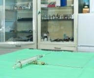 Glass syringe Stock Images