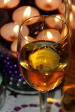 Glass of syrupy wine Royalty Free Stock Images