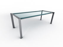 Glass table Stock Photo