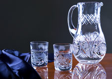 Glass on the table Royalty Free Stock Images