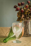 Glass on the table. Stock Photo