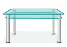 Glass table furniture vector illustration Royalty Free Stock Photos