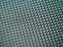 Glass Tabletop Closeup. Macro Showing Repetitive Pattern Stock Photo