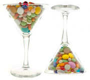 Glass and tablets Royalty Free Stock Image