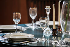 Glass  tableware Stock Photos